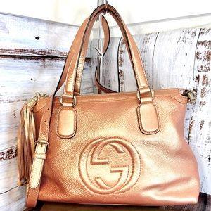 Gucci leather 2-way shoulder bag crossbody